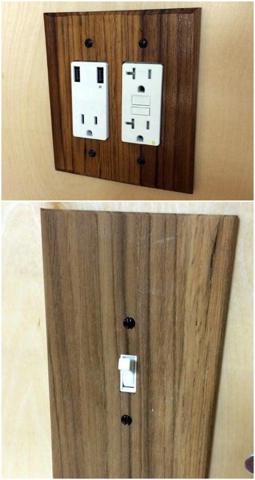 DIY Wood Light Switch Plates
