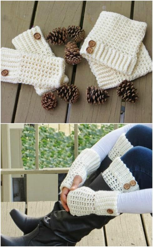 Easy Beginner Crochet Wrist Warmers