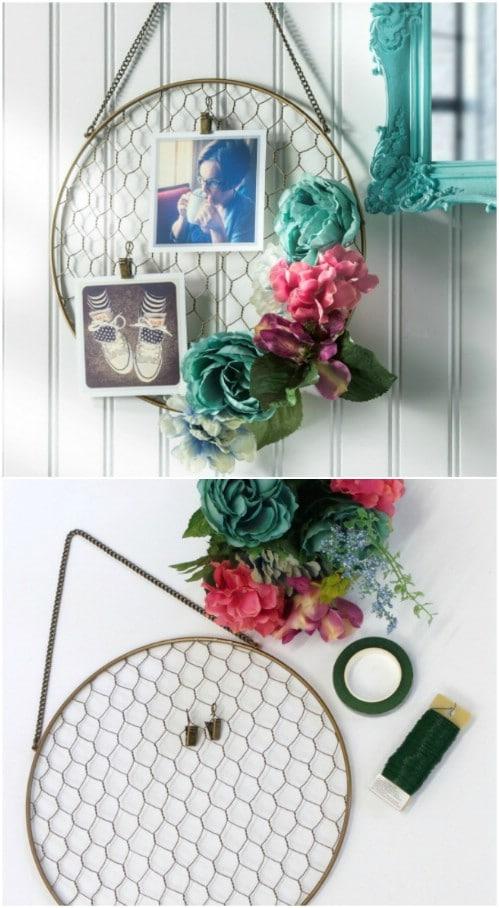 DIY Floral Hanging Frame