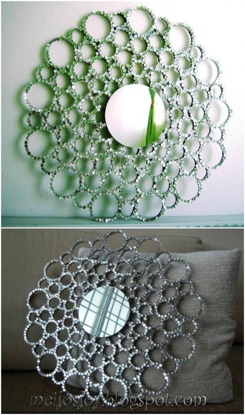 Upcycled Cardboard Sunburst Mirror