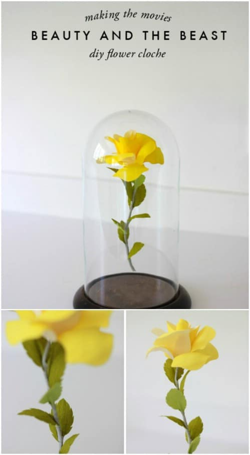 Beauty And The Beast Inspired Flower Cloche