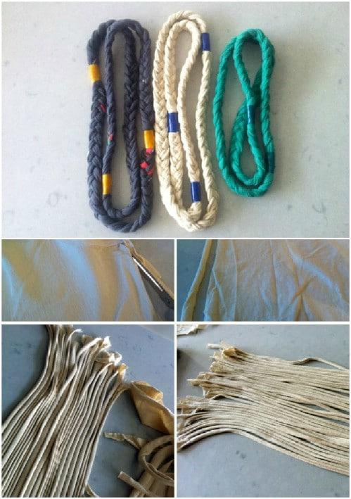 Repurposed T-Shirt Nautical Necklace