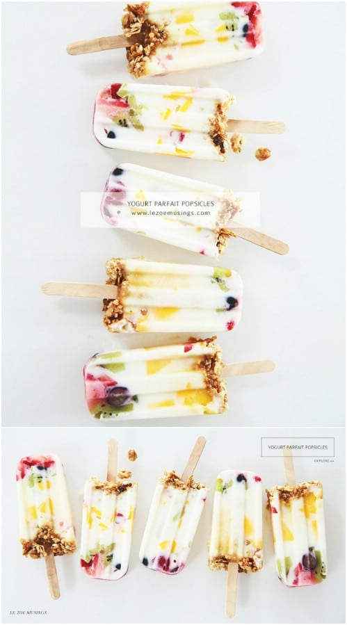 Yogurt Parfait Freezer Pops