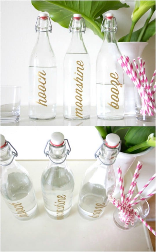 Personalized Bar Bottles