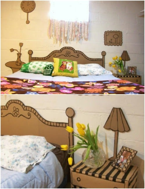Adorable Cardboard Bedroom Suite