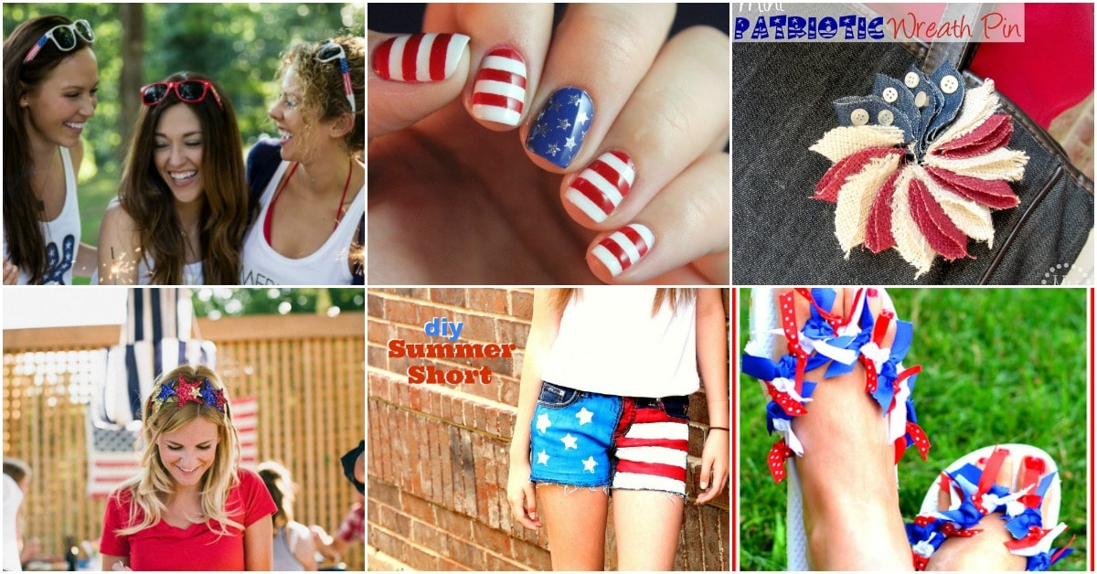 Girls American Style 4th of July Shirt Jeans Shorts Set Hair Clip Girls Clothes