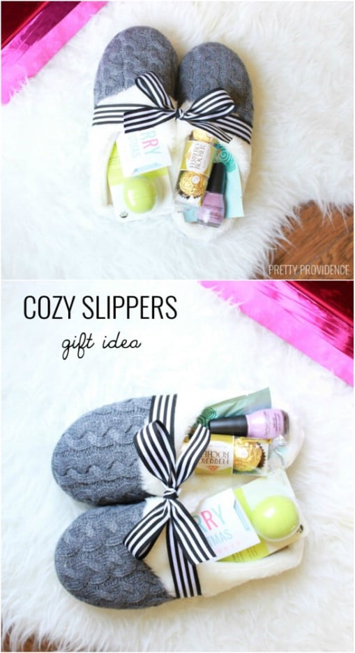 Cozy Slippers Basket