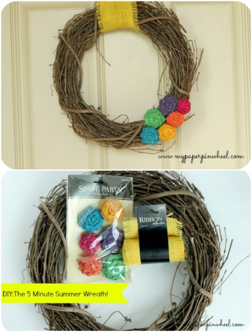 Easy Five Minute Summer Wreath