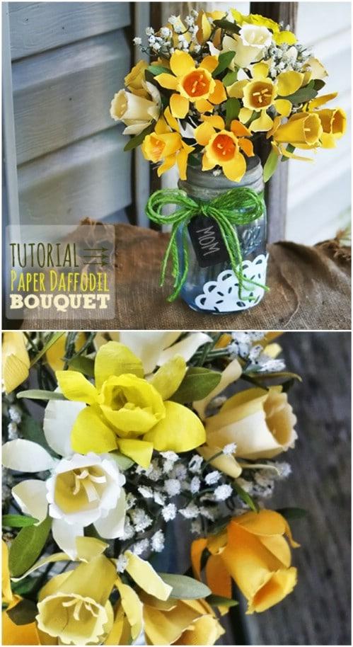 DIY Paper Daffodil Bouquet