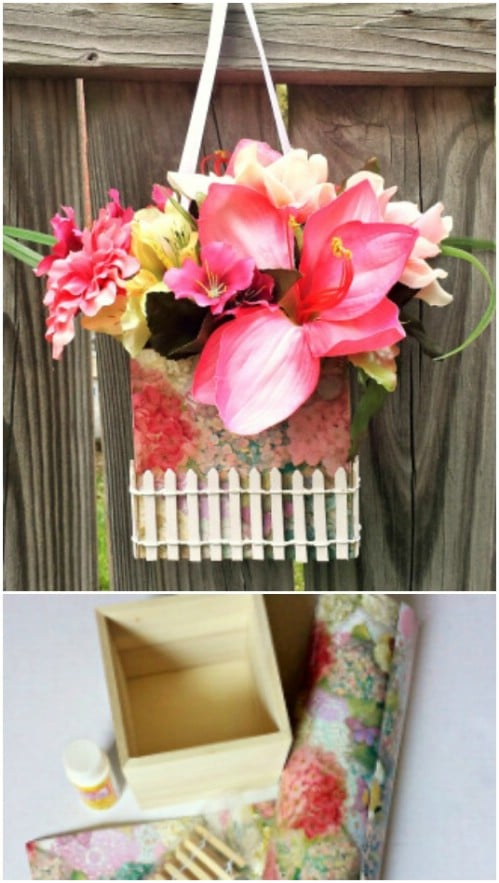 White Picket Fence Floral Box