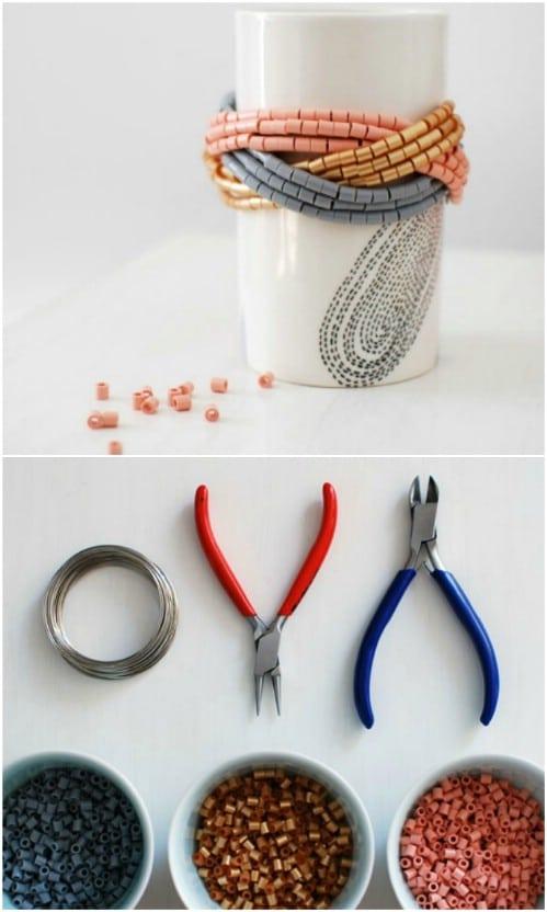 Easy $10 Beaded Bracelet