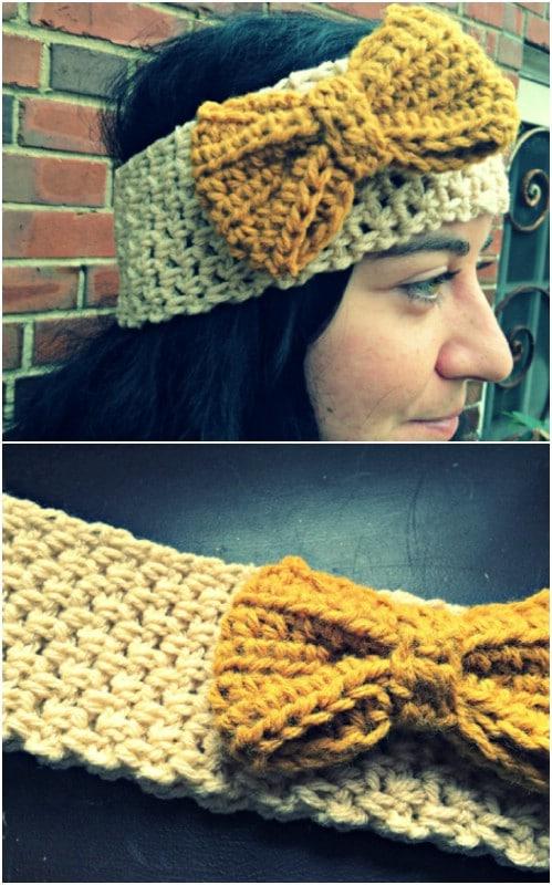 Easy Crochet Headband And Bow