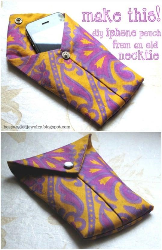 Repurposed Necktie iPod Pouch