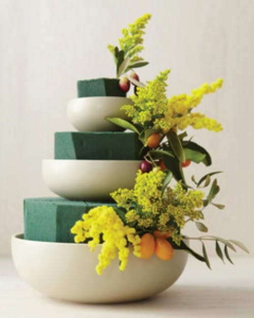 Tiered Bowl Floral Display