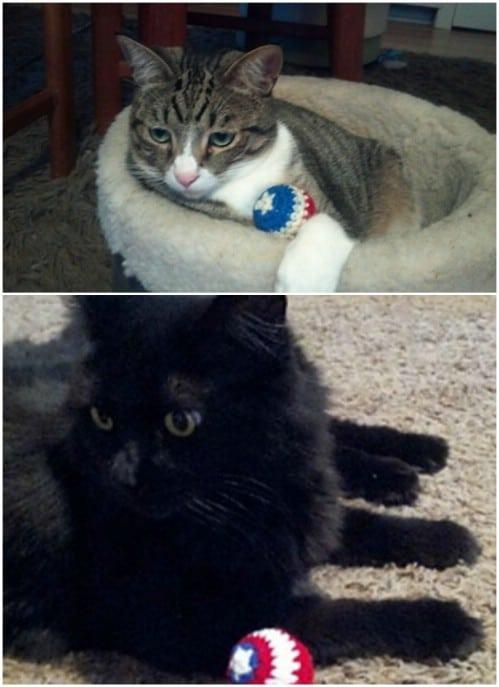 Easy Crochet Captain American Shield Cat Toy