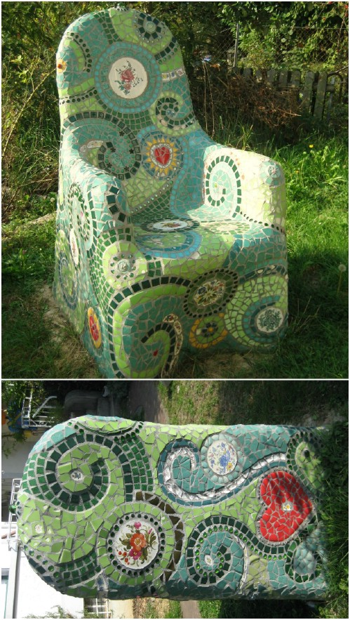 DIY Mosaic Garden Chair