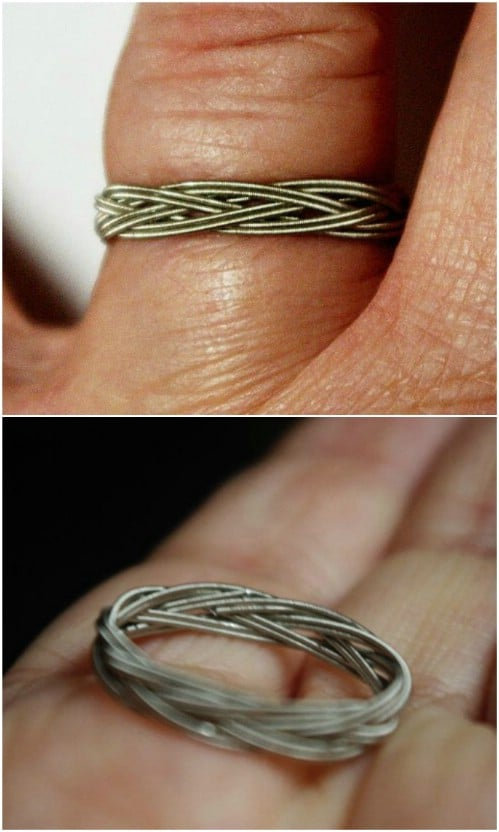 DIY Guitar String Ring