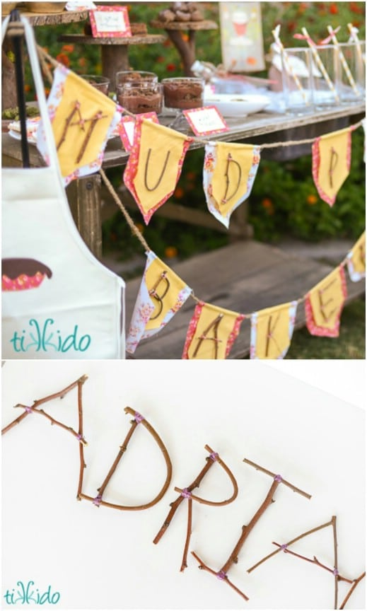 Rustic Twig Letter Banner