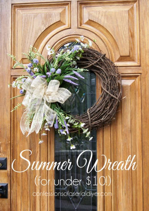 Cheap DIY Summer Wreath