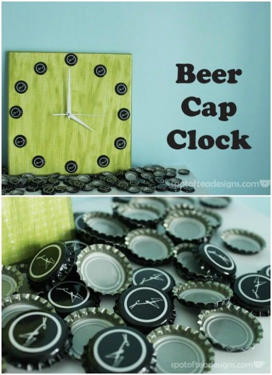 Great Beer Cap Clock
