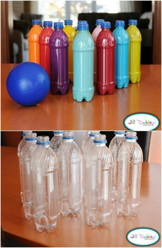 Upcycled Plastic Bottle Bowling Set
