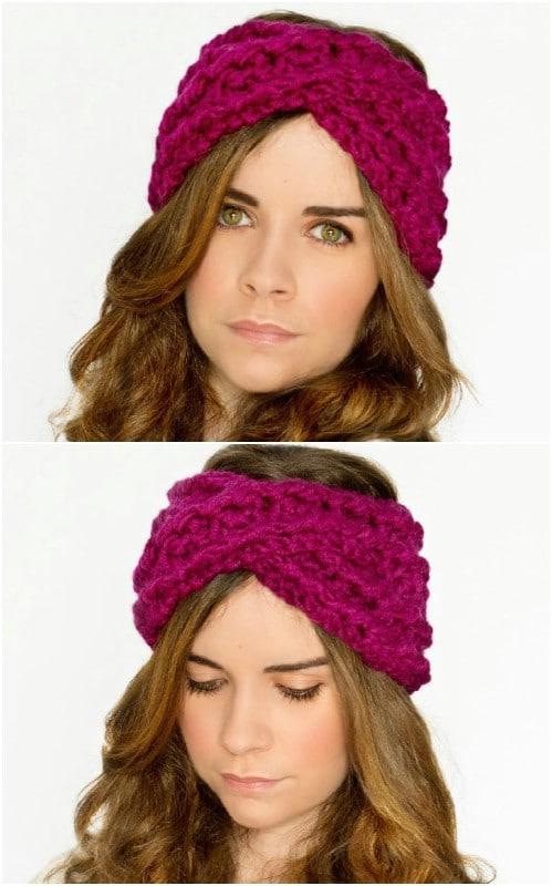 Easy DIY Crisscross Crochet Headband