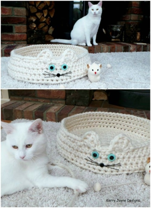 How to Crochet a Cat Bed House Bag O Day Crochet Tutorial #289 ... | 687x499