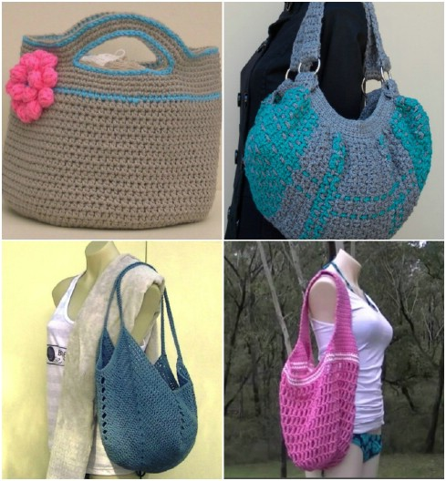 Easy Crochet Grocery Bag