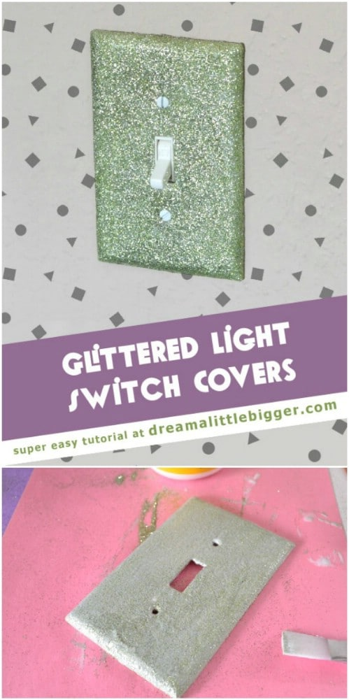 Glittery Light Switch Covers