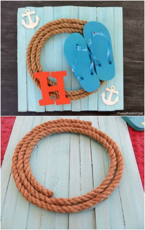 Easy DIY Summer Plank Wreath