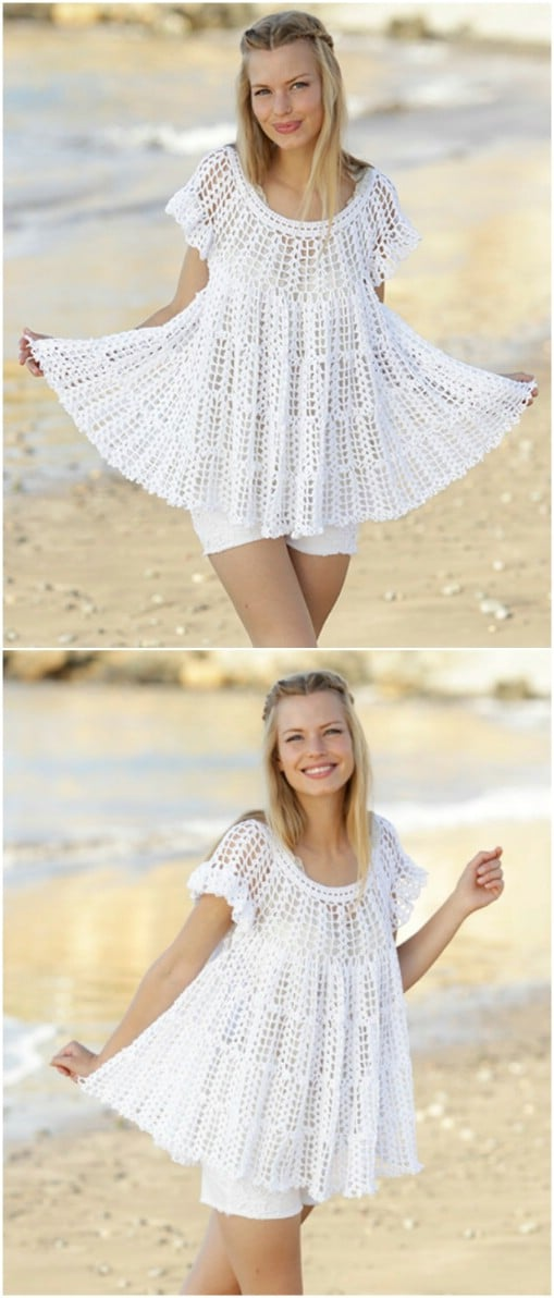 Crocheted Fan Tunic
