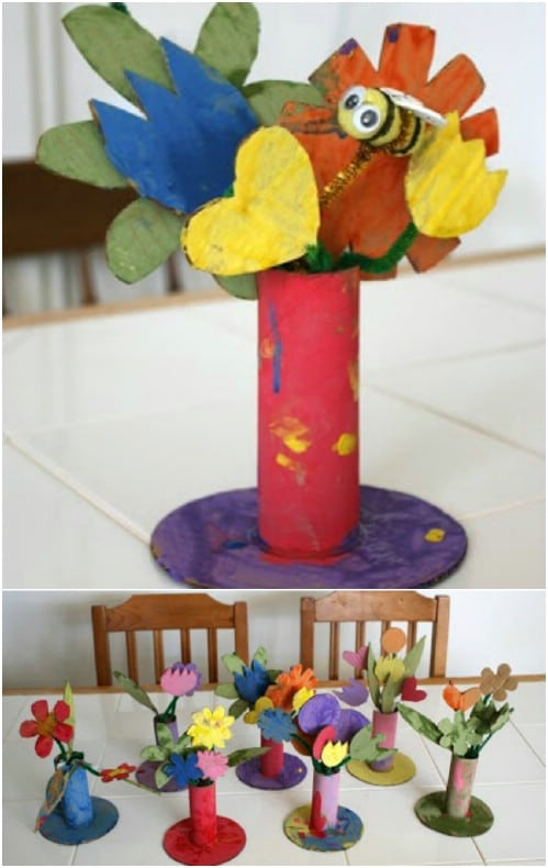 Easy DIY Cardboard Flowers