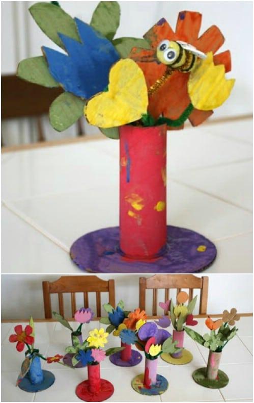 Easy DIY Cardboard Flowers