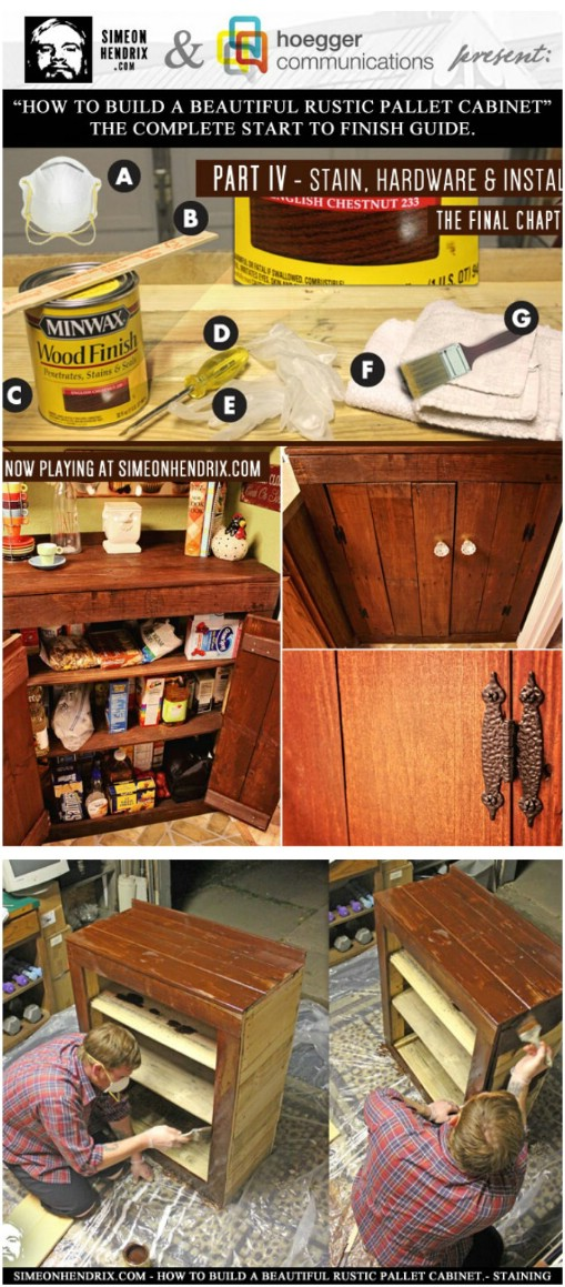 Rustic Pallet Cabinet