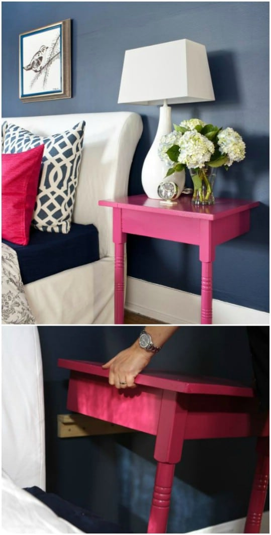 Upcycled Table Nightstand