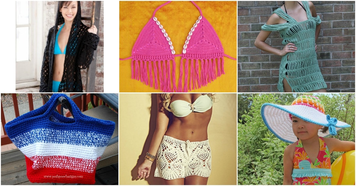 6e1cac1853 From bathing suits and cover ups to floppy hats and large tote bags, there  are so many things that you can knit or crochet to take along on your  wonderful ...