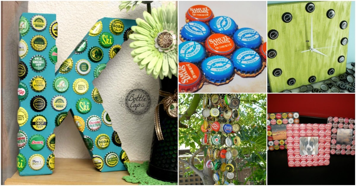 10f9f2b31de 25 Bottle Cap Upcycling Projects That Add Flair To Your Home - DIY ...