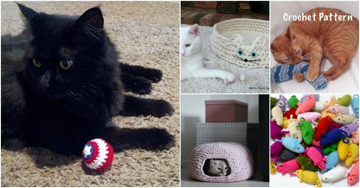 25 Fun And Easy Crochet Patterns For Your Cat