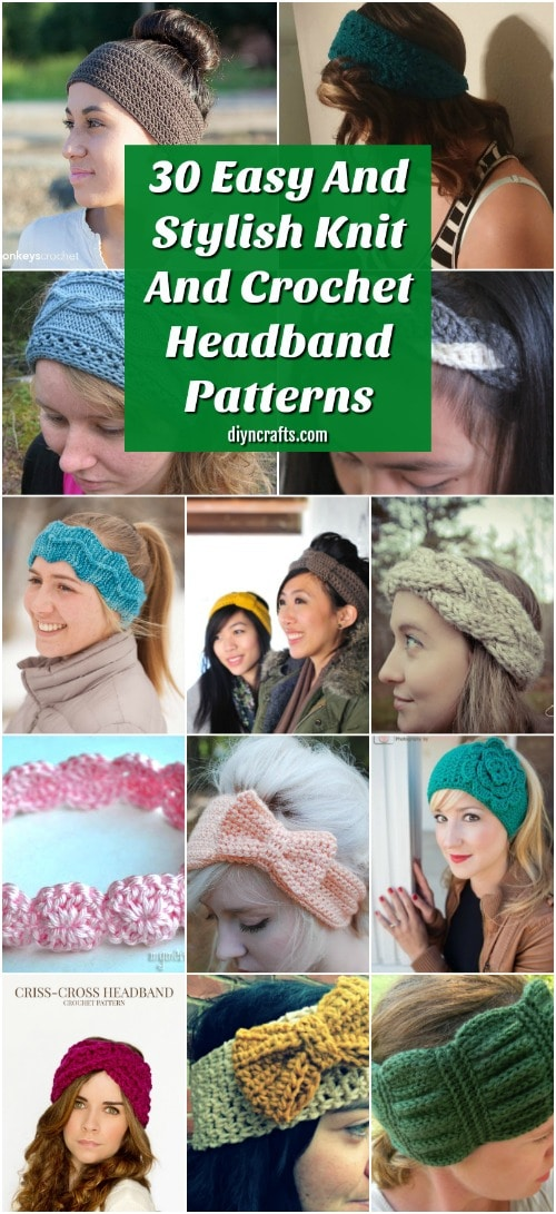 f043d26b5f3 30 Easy And Stylish Knit And Crochet Headband Patterns - DIY   Crafts