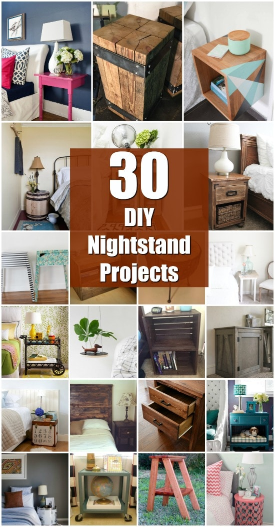30 Amazingly Creative And Easy Diy Nightstand Projects Crafts