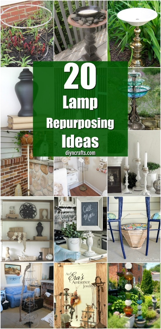 20 Fantastic Lamp Repurposing Ideas To Add Style To Your Home And Garden