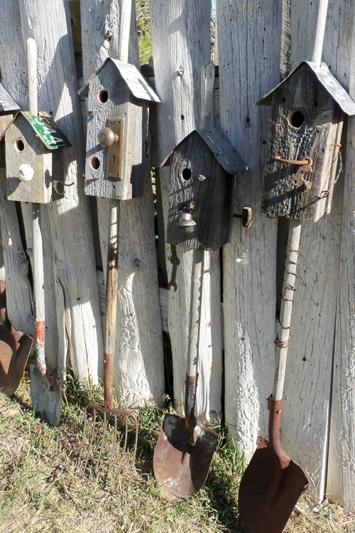 Repurposed Tool Birdhouses