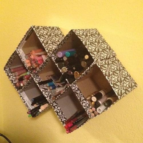 Repurposed Tissue Box Storage