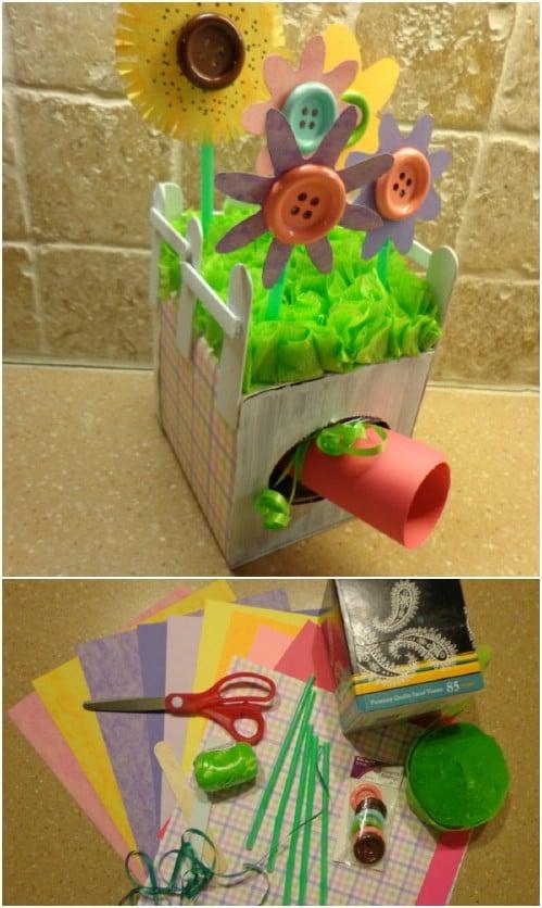 DIY Tissue Box Garden