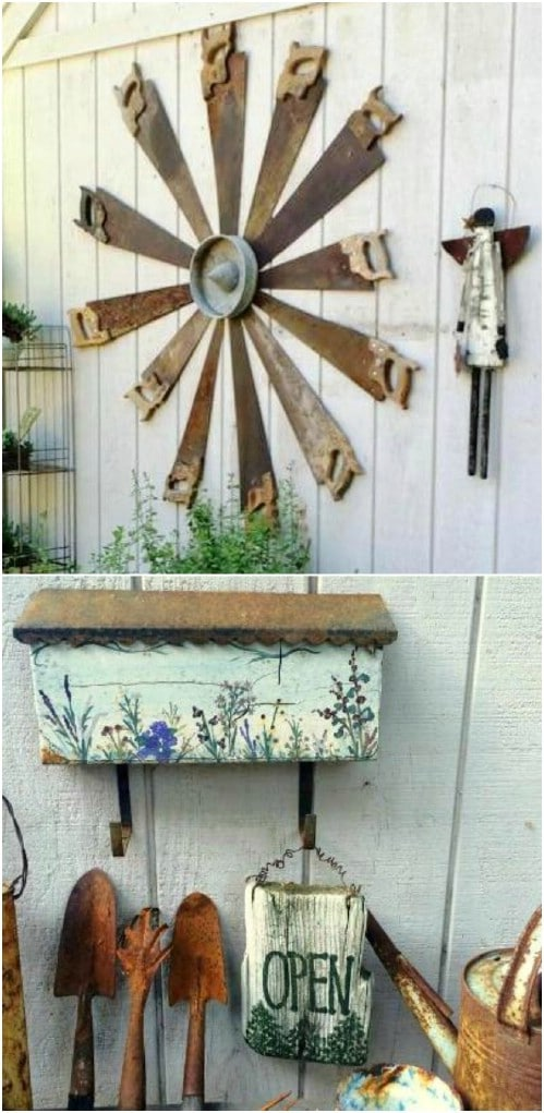Rustic Saw Flower Art