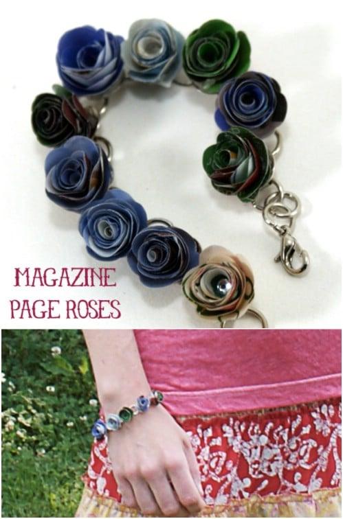 Repurposed Magazine Bracelet