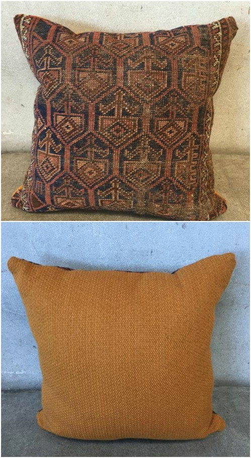 Repurposed Rug Throw Pillow