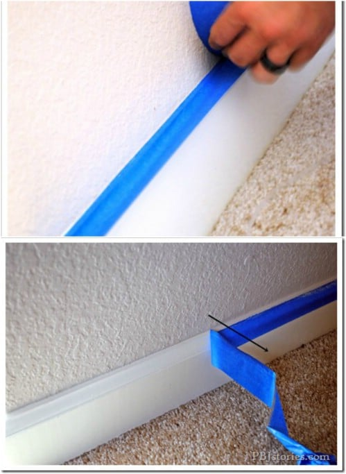Remove Masking Tape At An Angle