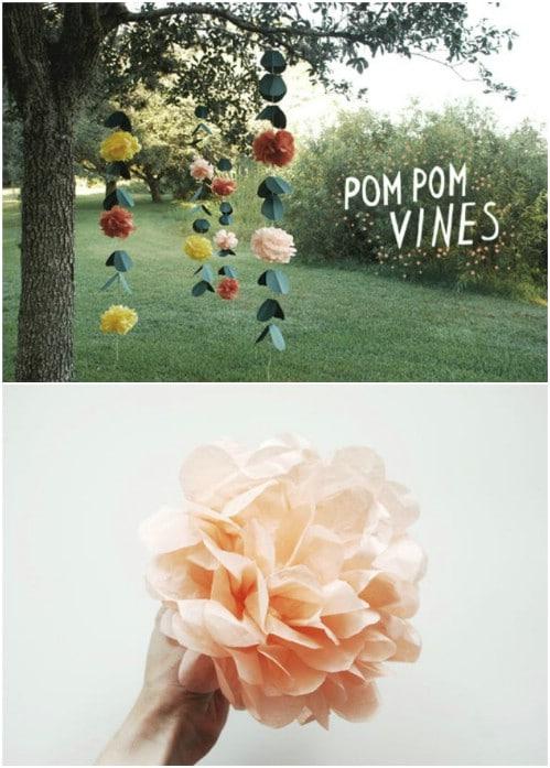 DIY Pom Pom Vines