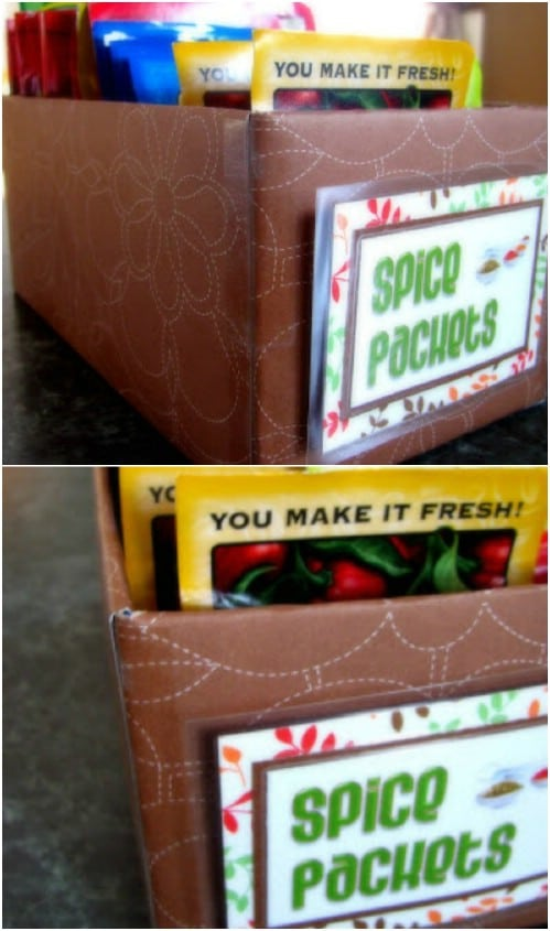 DIY Flavor Packet Storage